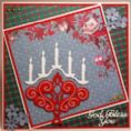 6002/2007 ~ CANDLESTICK WITH GOD BLESS YOU ~ JOY CRAFTS Cut+Emboss+Embroidery dies